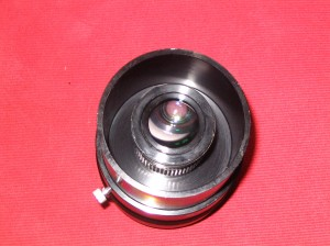 Scopetronix Adapter - 32mm eyepiece inserted into lower half